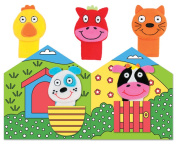 First Puppet Book - 5 Finger Puppets To Delight A Young Baby