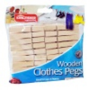 30 Count Wooden Clothes Pegs