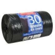 x30 Black Quality 440L Wheelie Bin Liners