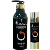 MoReturn Natural Herbal Shampoo 500ml & Hair Tonic 100ml SET
