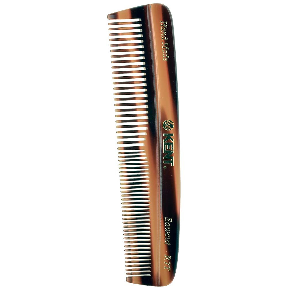 Kent R7T - Men's/Women's Coarse and Fine Toothed Small Travel Pocket Comb  130mm/5 63