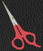 Equinox Barber & Household Scissors/Shears Plastic 14cm - Usable for Haircutting and Household Tasks - Durable and Lasting Blades with Easy to Use Handles