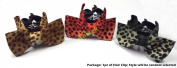 Lovely Vintage Jewellery Crystal Bowknot Bow tie Brown Black Red Poka Dot Leopard Pattern Hair Claws Octopus Clips Barrette for Hair Fashion Beauty Accessories- Style 2- Random Select AOSTEK