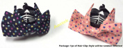 Lovely Vintage Jewellery Crystal Bowknot Bow tie Pink and Dark Blue Heart Dot Pattern Hair Claws Octopus Clips Barrette for Hair Fashion Beauty Accessories- Style 1- Random Select AOSTEK
