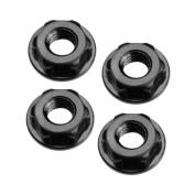 4mm Low-Profile Locking Wheel Nut,Black:TLR 22