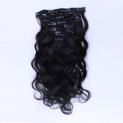 New fashion Body Weave 7PCS 100G clip in human hair extensions virgin Brazilian hair Queen hair products Natural Black