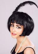 Ladies Black 1920s Super Model Bobbed Wig