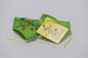 Baby Paper - Crinkly Baby Toy - Green with Stars