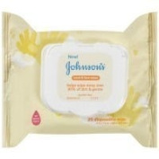 Baby / Child Johnson & Johnson's Hand And Face Wipe (4.7 X 9.9cm X 6.1cm ; 210mls) -- Twenty-Five Wipes...