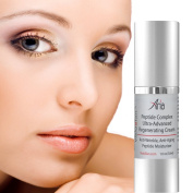 Best Anti Ageing Cream - 2 Age Defying Peptides, Vitamin C and Hyaluronic Acid, NutraPeptides-R and Silk Amino Acids - Advanced, Proprietary Moisturiser Hydrates Deeply Into Skin Layers For Intense Moisturising - Diminishes And Smooths Fine Lines and W ..