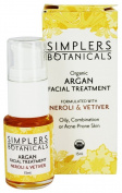 Simplers Botanicals - Organic Argan Facial Treatment Neroli & Vetiver - 15 ml.