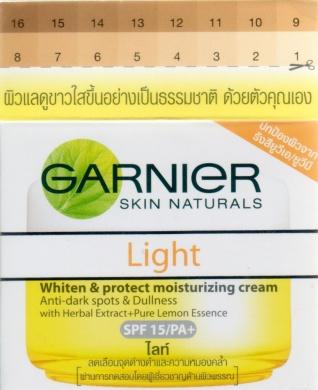 1 X Garnier Skin Naturals Light Whiten and Even Moisturising Day Cream 50 Ml From Thailand