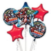 Marvel Avengers Birthday Party Favour Supplies 5ct Foil Balloon Bouquet