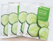 Watson Moisturising Facial Mask Cucumber Extract 30 Ml X 4 Packages