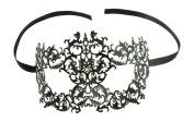 Kayso Inc Seductive Black Laser Cut Masquerade Mask With Rhinestones