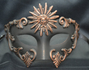 NEW Mens Mythological Bronze/black Sun God Greek Style Party Mask Mens Mythological Greek Style Party Mask Mardi Gras Party Halloween Ball Prom