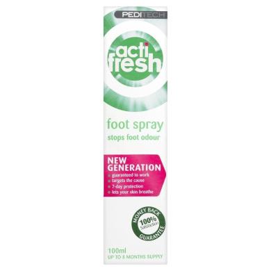 Peditech Actifresh Foot Odour Spray 100ml (up to 8months supply)