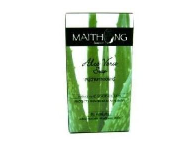 Maithong Aloe Vera Cassumunar Herbal Anti-bacterial Soap Anti Acne Firm & Soothe From Thailand