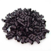 200 PCS 3.5mm Dark Brown Colour Copper Tubes Beads Locks Micro Rings for I Stick Tip Human Hair Extensions
