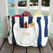 Exclusive Gifts and Favours-Striped Canvas Tote Bag By Cathy Concepts