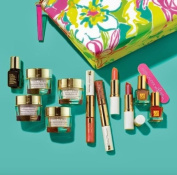 Estee Lauder 2014 7 Pcs Gift Set $165 Value Including Advanced Night Repair Serum, Moisturiser and Nail Lacquer in Exclusive Lilly Pulitzer Cosmetic Bag