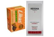 Keisha Brightening Vitamin C Body Milk 250ml Skin Lightening Whitening Lotion + Likas Papaya Soap