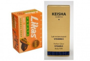 Keisha Perfect Glow Vitamin E Body Milk 250ml Skin Lightening Whitening Lotion + Likas Papaya Soap