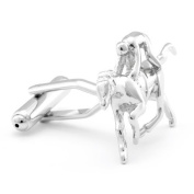 Horse Rider Animal Jockey Gift Wedding Cufflinks + Free Box & Cleaner