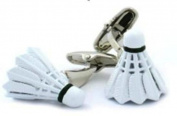 Badminton Shuttlecock Cufflinks Sport Birdie Sports Racket + Free Box & Cleaner