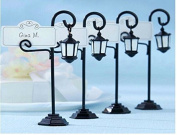 10pcs/lot Creative Road Lamp Table Place Card Holder