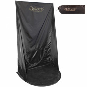 Belloccio® Turbo-Tan® Brand Black Professional Sunless Airbrush and Turbine Spray Tanning Wall Hanging Backdrop Tent with Nylon Carrying Bag