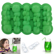 Water & Wood Caterpillar Chocolate Mould Mould Maker Cake Ice Tray Jelly Party Freeze Silicone