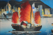 No Frame Sailboat Oil Painting 30cm x 41cm Painting on Canvas Only