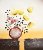 Ready to Hang Floral Art Flower Oil Painting on Canvas 25cm x 30cm