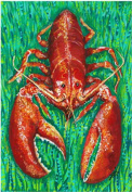 My Island Canvas Mat, Lobster