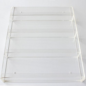36 Bottles Transparent Clear Acrylic Nail Polish Salon Exhibition Wall 4 Layers Polish Display Rack Storage Shelf