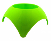 Beach Vacation Accessory Green Turtleback Sand Drink Coaster Plastic Cup Holder