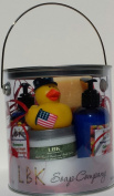 DUCKIES 4TH OF JULY Lighting Strike Lemon Grass GIFT CAN