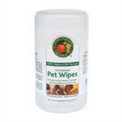 Earth Friendly Products Natural Pet Wipes, Pre-Moistened Towels, 70-Count Container