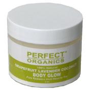 Perfect Organics Body Glow, Grapefruit Lavender Coconut, 60ml Jar
