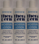 Thera Derm Lotion Generic for Keri Original Body & Face Moisturising Lotion for Dry Skin 240ml per Bottle Pack of 3 Total 710ml