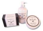 Au Lait Hand Lotion Pump 14. Oz. + Body Butter 260ml + Extra Large Milk Soap 310ml