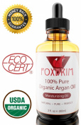 """★LIMITED SALE!★ BEST Argan Oil for Hair, Face and Skin - 100% Pure ORGANIC Argan Oil Cold Pressed Virgin Argan Oil ★ Foxbrim 