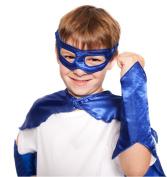 Blue Superhero Eye Mask and Powerbands - Kids
