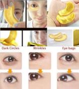 Hitece@10/20/30/50/60/80/100 pairs wholesale New Crystal 24K Gold Powder Gel Collagen Eye Mask Masks Sheet Patch, Anti Ageing Ageing, Remove Bags, Dark Circles & Puffiness, Skincare, Anti Wrinkle, Moisturising, Moisture, Hydrating, Uplifting, Whitening ..
