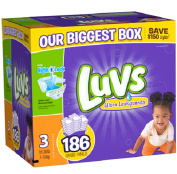 Luvs Size 3 Ultra Leakguards Nappies - 186 Count