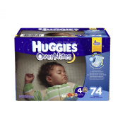 Huggies Overnites Size 4 Super Pack - 74 Count