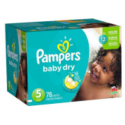 Pampers Baby Dry Size 5 Nappies Super Pack - 78 Count