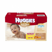 Huggies Soft Skin Baby Wipes - 504 Count