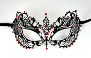 Space Princess Laser Cut Venetian Masquerade Mask with Red Rhinestones Event Party Ball Mardi Gars
